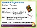 preamble exploration