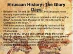 etruscan history the glory days