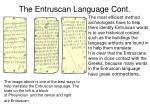 the entruscan language cont