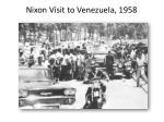 nixon visit to venezuela 1958