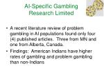 ai specific gambling research limited