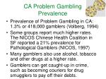 ca problem gambling prevalence