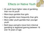 effects on native youth