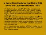 is there other evidence that rising co2 levels are caused by humans yes