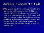 additional elements of 211 447