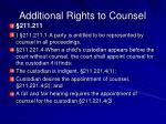 additional rights to counsel1