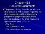 chapter 453 required documents2