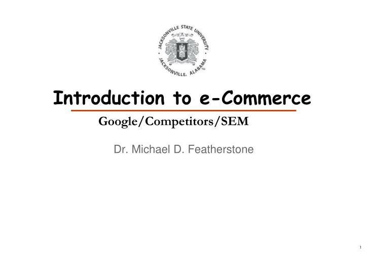 introduction to e commerce n.