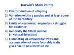 darwin s main points