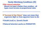 hardy weinberg conditions ii