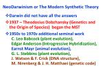 neodarwinism or the modern synthetic theory