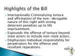 highlights of the bill