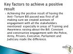 key factors to achieve a positive result