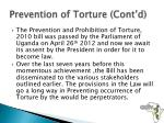 prevention of torture cont d1