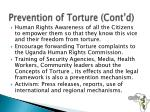 prevention of torture cont d2