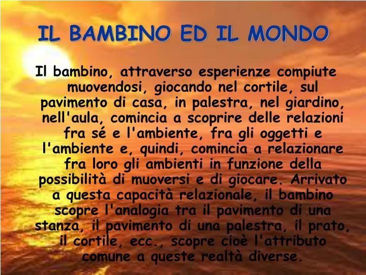 IL BAMBINO ED IL MONDO
