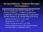 advanced disease targeted therapies vegf inhibition