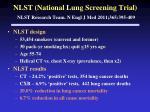 nlst national lung screening trial nlst research team n engl j med 2011 365 395 409
