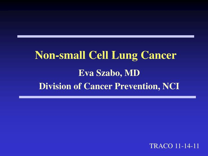non small cell lung cancer n.