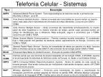 telefonia celular sistemas