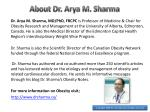 about dr arya m sharma