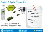 option 2 wan connection