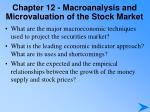 chapter 12 macroanalysis and microvaluation of the stock market1