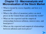 chapter 12 macroanalysis and microvaluation of the stock market2
