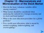 chapter 12 macroanalysis and microvaluation of the stock market3