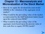 chapter 12 macroanalysis and microvaluation of the stock market4