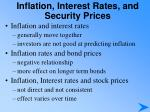 inflation interest rates and security prices