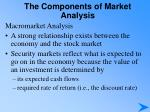 the components of market analysis