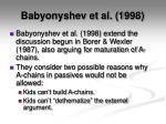 babyonyshev et al 1998