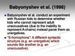 babyonyshev et al 19981