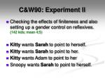 c w90 experiment ii