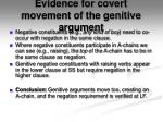 evidence for covert movement of the genitive argument