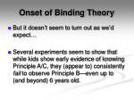 onset of binding theory1