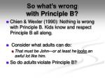 so what s wrong with principle b