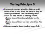 testing principle b