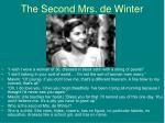 the second mrs de winter