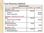 cost recovery method1