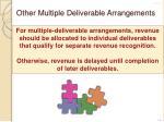 other multiple deliverable arrangements