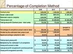 percentage of completion method10