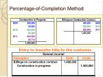 percentage of completion method12