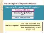 percentage of completion method2