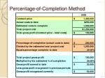 percentage of completion method3