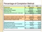 percentage of completion method7