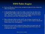 fifo sales engine