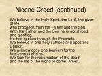 nicene creed continued