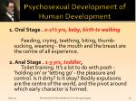 psychosexual development of human development